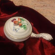 """Andrea by Sadek """"Fruit"""" covered dish with handle and 3 dimensional strawberries"""