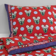 IKEA glodande Rosso per Bambini Singolo Dimensioni Copripiumino & 2 P / Casi