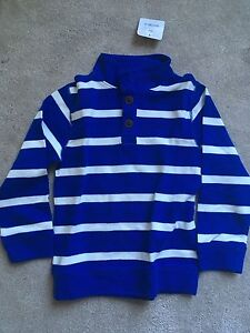 NEW! Gymboree Orbit Blue Striped Pullover Sweater Top NWT, Size 6