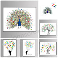 NEW Thumbprint Fingerprint Tree Wedding Guest Book Wedding Gifts Canvas Painting