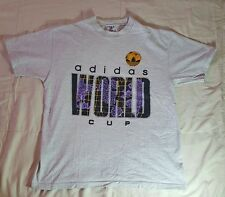 Vintage Adidas Trefoil World Cup T-shirt Size Large Made in USA