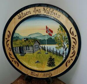 Beautiful Vintage Hand Painted Norwegian Plate