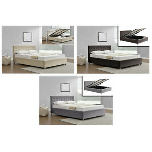 AUSTWIDE HARLO HIGH QUALITY KING SIZE FABRIC BED FRAME 3 X COLOURS **NEW**
