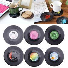 6x Dessous Verre Cup Sous Tasse Thé Bock Rond Disque CD Coaster Café Cuisine NF