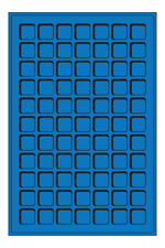 Set of 2 Blue Coin Trays with 77 spaces for coins up to 22mm diameter