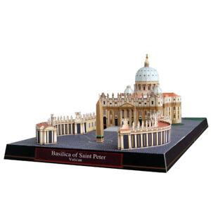 3D Paper Model Basilica of Saint Peter Vatican Architecture DIY Puzzle Gift Kit