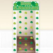 St Patricks Tag Große Dekorative Kleeblätter Türvorhang Wandbehang Party