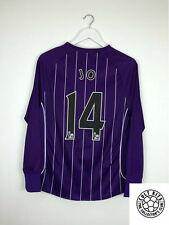 Manchester City JO #14 07/08 L/S Away Football Shirt (S) Soccer Jersey Purple