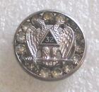 Vintage Masonic Scottish Rite 32nd Degree Rhinestone Tie Tack or Pin - Freemason