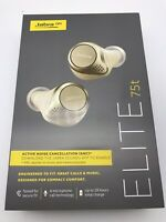 Jabra Elite 75t True Bluetooth Active Noise Cancelling- Headphones-Gold-Genuine
