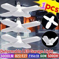 60W Deformable LED Garage Lights Work 6000LM Adjustable Foldable Ceiling Lamp ~