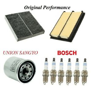Tune Up Kit Air Cabin Oil Filters Spark Plugs For INFINITI Q50 V6 3.0L 2016-2017