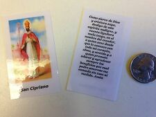 SMALL HOLY PRAYER CARDS FOR SAN CIPRIANO IN SPANISH SET OF 2