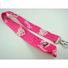 Lovely Barbie Pink Neck Lanyard Strap Cell Mobile Phone ID Card Key chain + GIFT