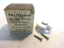 NEW IN BOX NUTONE MODEL S-120 HEAT DETECTOR 135F