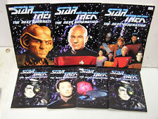 Set of 7 Star Trek Next Generation Note Books- Imported from UK- Unused! (M1291)