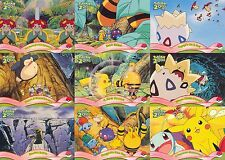 POKEMON THE MOVIE 2000 TOPPS COMPLETE BASE CARD SET OF 72 AN