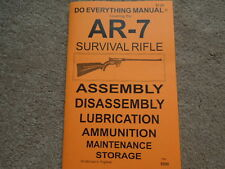 Armalite AR-7 Survival Rifle Owners Manual 31 Pg.