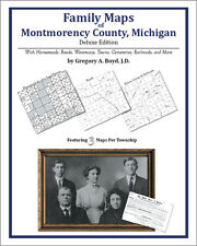 Family Maps Montmorency County Michigan Genealogy MI Plat