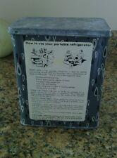 Portable Refrigerator Tin 50's retro teardrop design vintage