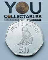 2015 50p Fifty Pence Coin Gibraltar Barbary Ape - SCARCE - Free P&P