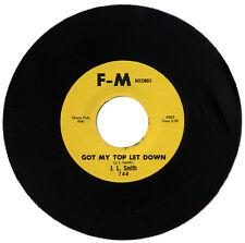 "J.L. SMITH  ""GOT MY TOP LET DOWN c/w IF IT'S TOO LATE""   DRIVING R&B    LISTEN!"