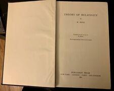 theory of relativity by w.pauli 1958 Hardcover