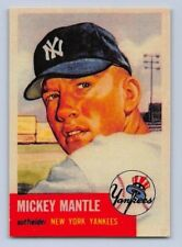 "1953  MICKEY MANTLE - Topps ""REPRINT"" Baseball Card # 82 - NEW YORK YANKEES"