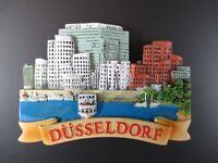Düsseldorf Hafenansicht Germany Souvenir Magnet,Polyresin Deutschland,Neu