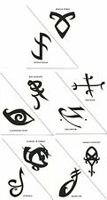 Mortal Instruments Shadowhunters Set of 10 Temporary Tattoo's Cosplay Costume