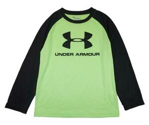 Under Armour Boys Quirky Lime & Black Logo Dry Fit Top Size 5