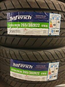 New Car Tyres Saferich Sport SUV/4X4 265/30/22 265 30 ZR22 XL 97W 265 30 22 E+B