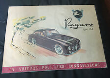 1952 Original Pegaso Type 102 Catalog Dealer Brochure Prospekt French