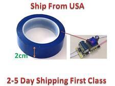Insulation Adhesive Mylar tape Hig-Temp  Transformer Coil Wrap Blue 2CM*66M