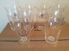 Samuel Smith Pint Beer Glasses Set of 6 -  Rosette Logo on Bottom - EUC