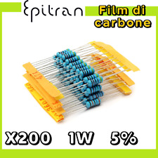10/% resistori in carbonio 1 WATT 10 x VINTAGE 1K ohm 1W
