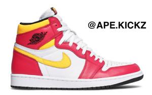 "Air Jordan 1 High ""Fusion/ Yellow/ Red"" Mens Sizes 9.5, 10, 10.5, 11, 13, 14"