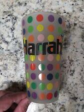 Rare Harrah's Casino Logo Frosted Polka Dot Star 16 oz Ounce Beer Pint Glass!