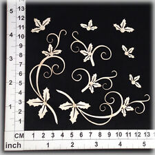 Chipboard Embellishments for Scrapbooking, Cardmaking - Holly 31224w