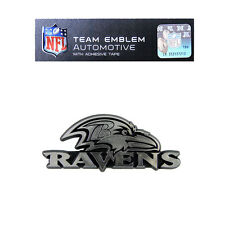Promark New NFL Baltimore Ravens Plastic Chrome 3-D Auto Emblem Sticker Decal