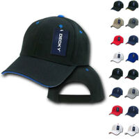 DECKY Sandwich Visor Pro Style Two Tone Constructed 6 Panel Baseball Hats Caps