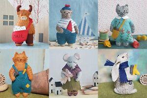 Wool Mix Felt MINI Craft Sewing Kits by Corinne Lapierre - Various Designs