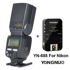 Yongnuo YN685 Wireless Speedlite Flash + YN622N Trigger for Nikon Camera UK
