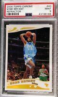 2005-06 Topps Chrome Kobe Bryant Refractor #951/999 PSA 9 Mint