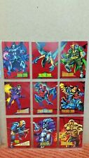 1993 Marvel Universe Series IV Complete 2099 9 Card Red Foil Rare Chase Set