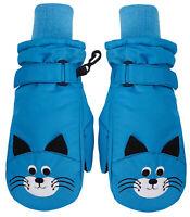 Children's Winter Fun Animal Character 3M Thinsulate Water Resistant Ski Gloves