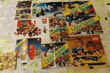 LOT DE 12 lego notice catalogue LEGO LEGOLAND des années  80
