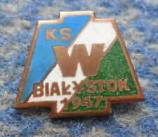 WLOKNIARZ BIALYSTOK POLAND FOOTBALL BASKETBALL CLUB 1970's ENAMEL PIN BADGE