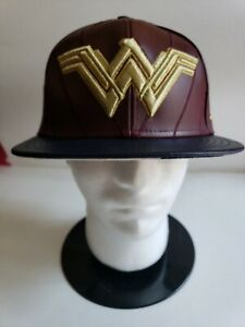🔥RARE! New Era DC Superheroes Justice League Wonder Woman fitted hat cap 7 1/2