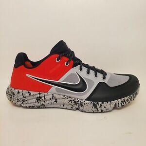 Rare Nike Mens Sz 11 Alpha Huarache Elite 2 Turf Baseball Cleats Black/Red/Gray